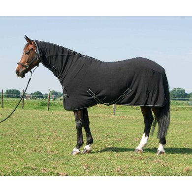 Harrys Horse Fleecerug Deluxe With Neck Black 145/195