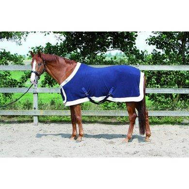 Harrys Horse Couverture Polaire Modèle Staatsie avec Bavoir Marin