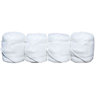 Harrys Horse Bandages Acrylique 4pc Blanc 3m 4 Pièce