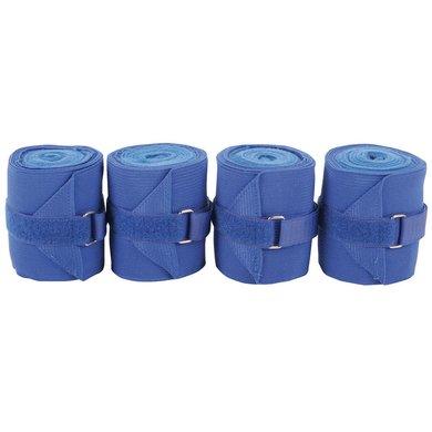 Harrys Horse Bandages Élastique Fleece Bleu cobalt 4 Pièce