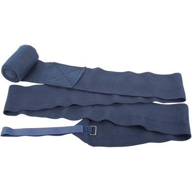 Harrys Horse Bandages Élastique avec Fleece Marin 4 Pièce