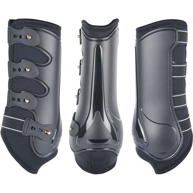 Harrys Horse Protection Boots Grand Prix Front Black