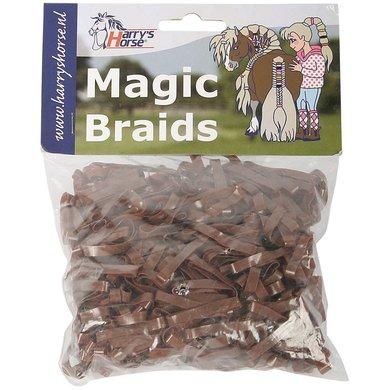 Harrys Horse Einflechtgummis Magic Braids Beutel Braun