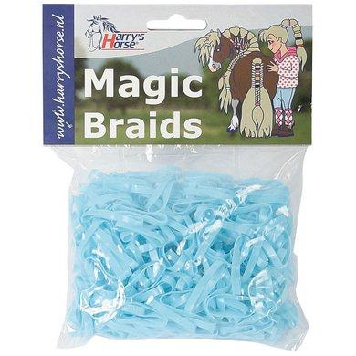 Harrys Horse Einflechtgummis Magic Braids Beutel Licht Blau