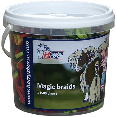 Harrys Horse Magic Braids Pot Rood/geel/zwart