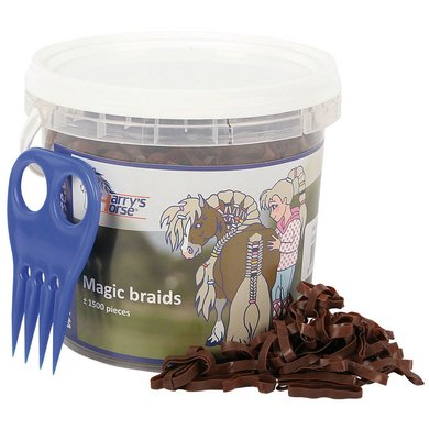 Harrys Horse Petits Élastiques Magic Braids Pot Marron