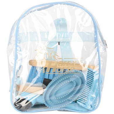 Harrys Horse Kit de Toilettage Backpack Bleu clair