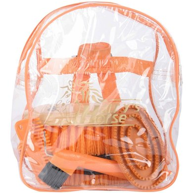 Harrys Horse Backpack Grooming Kit Orange
