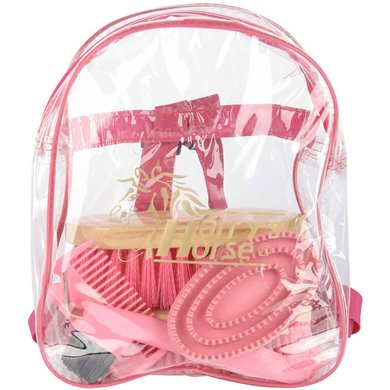 Harry's Horse Backpack Grooming Kit Roze