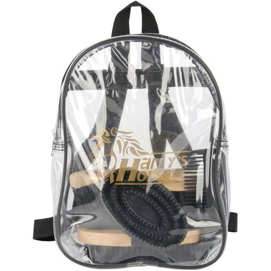 Harrys Horse Backpack Grooming Kit Black