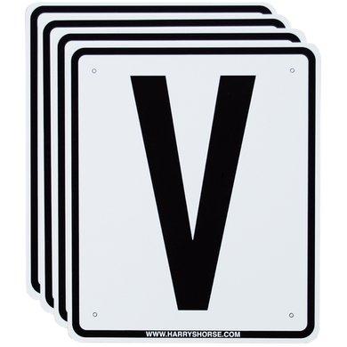 Harrys Horse Reitplatzbuchstaben Zubehörset 20x60 Weiß