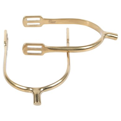 Harrys Horse Pow Spurs Stainless Steel Flat Gold 40mm M