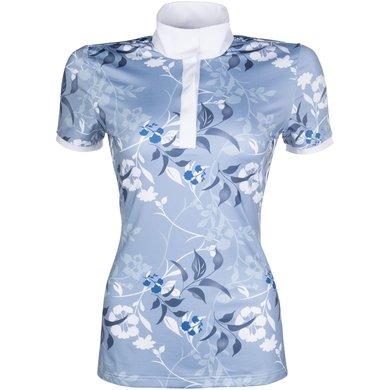 Lauria Garrelli Shirt Sole Mio Floral Joy Azuur/Wit/Blauw XL