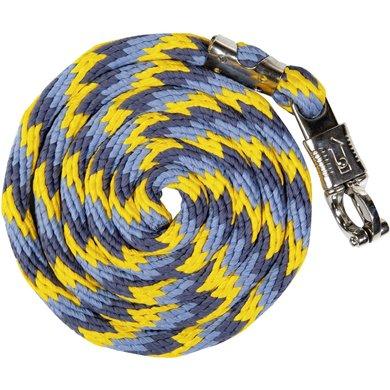 Lauria Garrelli Halstertouw Rookblauw/Middelblauw/Wit 180cm