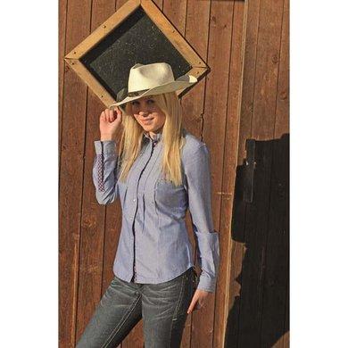 HKM Western Westernblouse Denim Jeansblauw