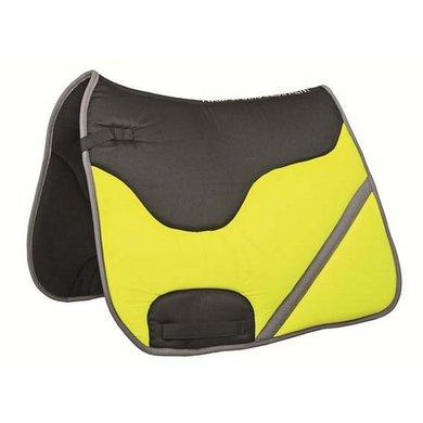 HKM Zadeldek Reflex Zwart/lemon Dressuur