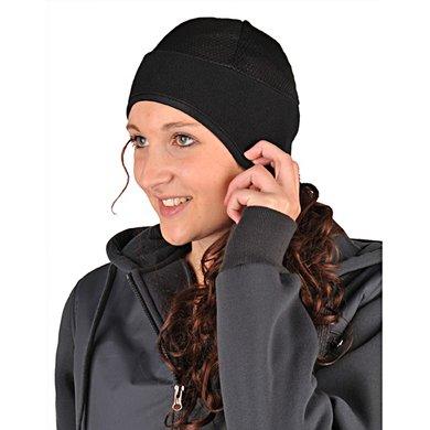 HKM Kopfwärmer aus Fleece und Netzgewirke Schwarz Universal