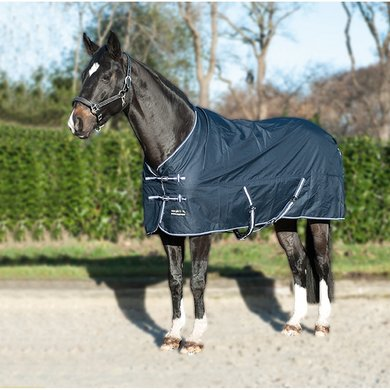 HKM Turnout Rug Economic Fleece Lining Darkblue
