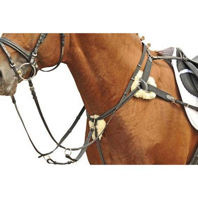 HKM 5 Point Martingale Lambswool Brown Pony