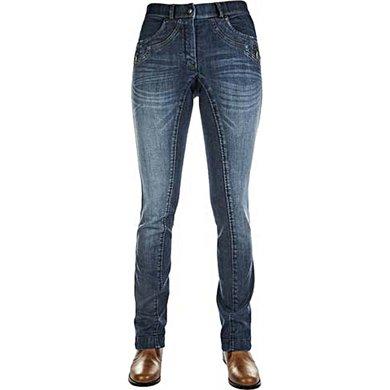 HKM Western Jeans Jodhpur Rijbroek Classic Blauw
