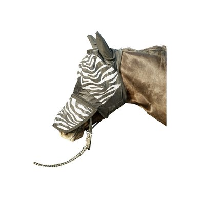 Hkm Vliegenmasker Zebra Met Neusnetje Wit/zwart Shet