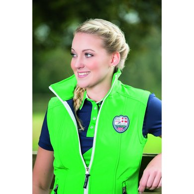 Hkm Pro Team Softshell Bodywarmer Global Team Grasgroen 164