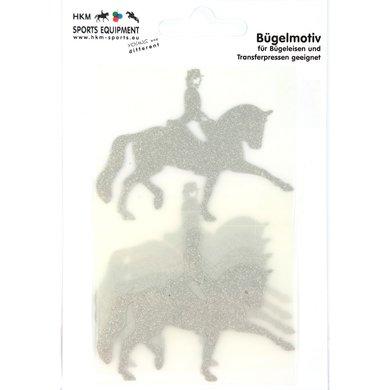 Strijkmotief Dressuur Zilver Flex Moda Glitter 5st