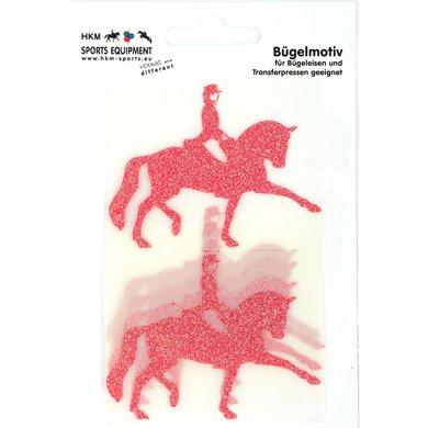 Strijkmotief Dressuur Rood Flex Moda Glitter 5st