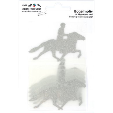 Strijkmotief Ijslander Zilver Flex Moda Glitter 5st