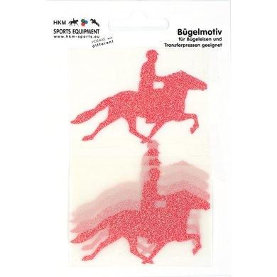 Strijkmotief Ijslander Rood Flex Moda Glitter 5st