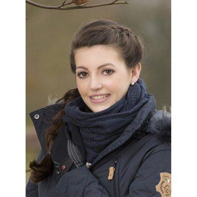 Lauria Garrelli Gebreide Sjaal Fleecevoering Paris Dblauw