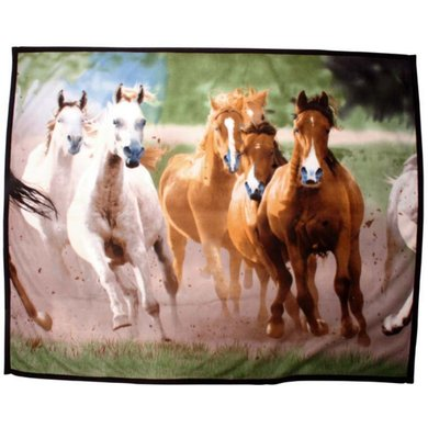 HKM Fleece Blanket Horses