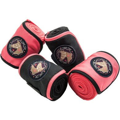 Little Sister Fleecebandages Champ Roze/donkerblauw 200 Cm