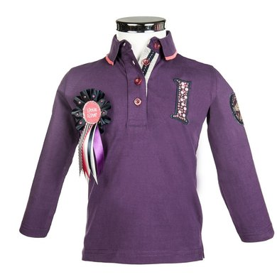 Little Sister Poloshirt Champ Paars 98/104
