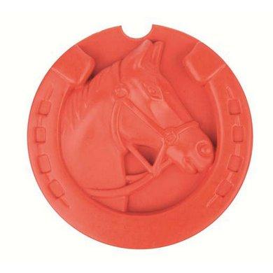 Hkm Rubberen Roskam Horse Rood 9,5 Cm