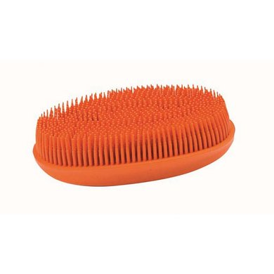 Hkm Rubberen Hoofdborstel Oranje 12,5 X 6 Cm