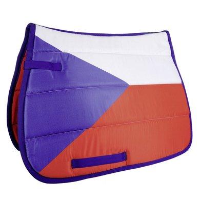 Hkm Zadeldek Flag Allover Vlag Tsjechie Dressuur