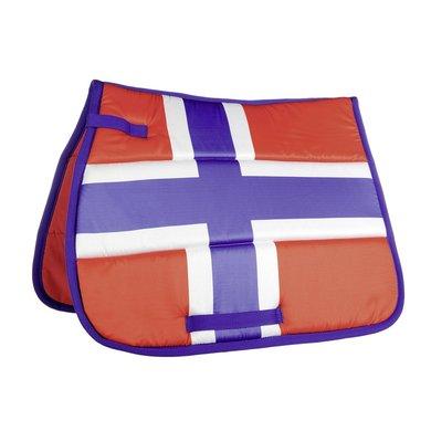 Hkm Zadeldek Flag Allover Vlag Noorwegen Dressuur