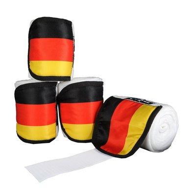 Hkm Polarfleecebandages Flags Set Van 4 Vlag Duitsland 300cm