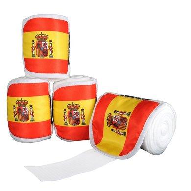 Hkm Polarfleecebandages Flags Set Van 4 Vlag Spanje 300 Cm