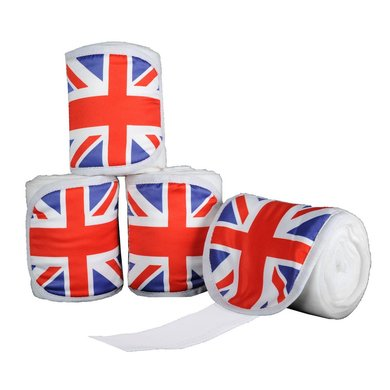 Hkm Polarfleecebandages Flags Set Van 4 Vlag Uk 300 Cm