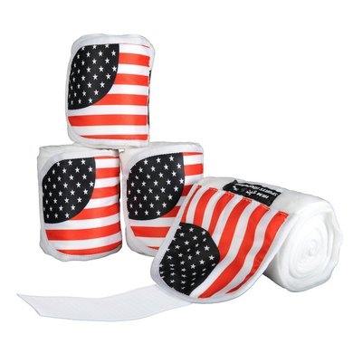 Hkm Polarfleecebandages Flags Set Van 4 Vlag Usa 200 Cm