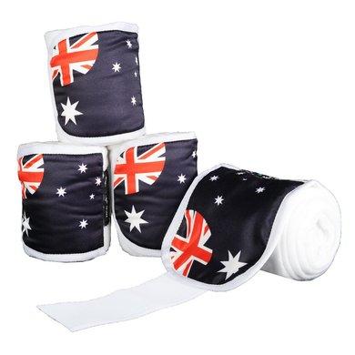 HKM Polarfleecebandages Flags Set Van 4 Vlag Australie 200cm