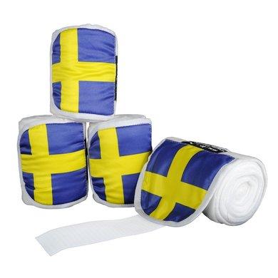Hkm Polarfleecebandages Flags Set Van 4 Vlag Zweden 200 Cm