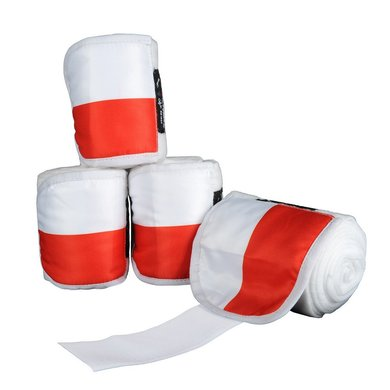 Hkm Polarfleecebandages Flags Set Van 4 Vlag Polen 300 Cm