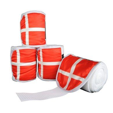 HKM fleecebandages Flags Set Vlag Denemarken 200cm