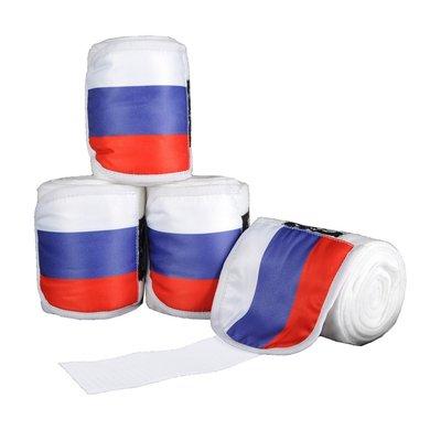 Hkm Polarfleecebandages Flags Set Van 4 Vlag Rusland 300 Cm