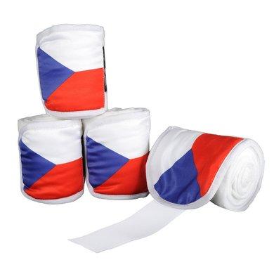 Hkm Polarfleecebandages Flags Set Van 4 Vlag Tsjechie 200 Cm