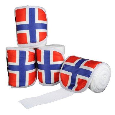 Hkm Polarfleecebandages Flags Set Van 4 Vlag Noorwegen 300cm