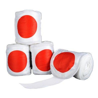 HKM Bandages Polaire Flags Jeu de 4pc Drappeau Japon 200cm